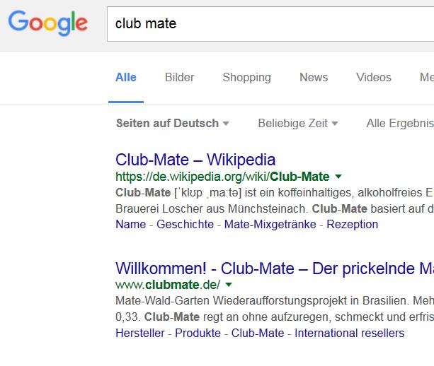 Google-Ansicht Markensuche